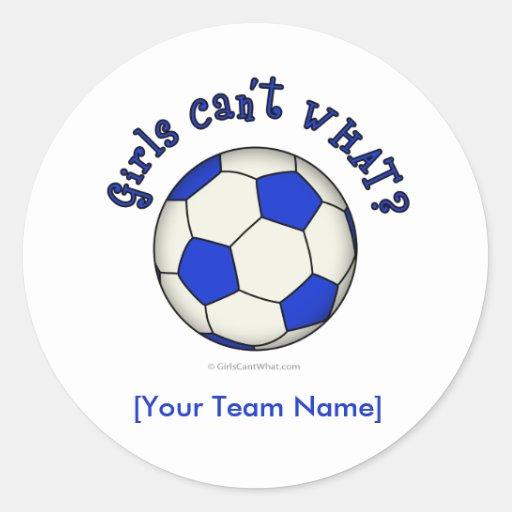 Soccer Ball in Blue Classic Round Sticker