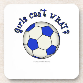 Soccer Ball in Blue Drink Coaster