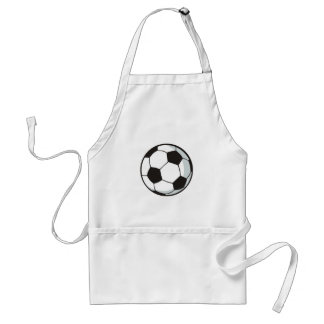 Soccer Ball in Cartoon Style Adult Apron