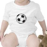 Soccer Ball in Cartoon Style Baby Bodysuits