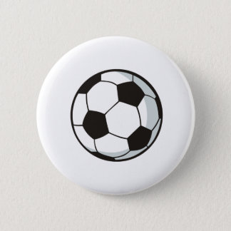 Soccer Ball in Cartoon Style Button