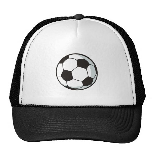 Soccer Ball in Cartoon Style Hats