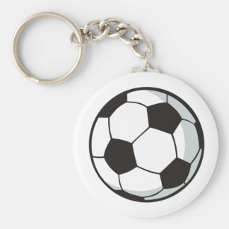 Soccer Ball in Cartoon Style Keychain