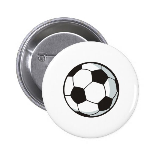 Soccer Ball in Cartoon Style Pin