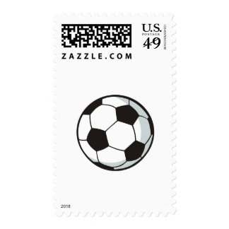 Soccer Ball in Cartoon Style Postage