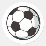 Soccer Ball in Cartoon Style Round Sticker