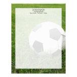Soccer Ball in Grass Letterhead