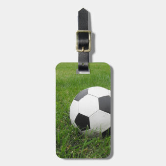 Soccer Ball in Grass Bag Tag