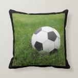Soccer Ball in Grass Throw Pillow