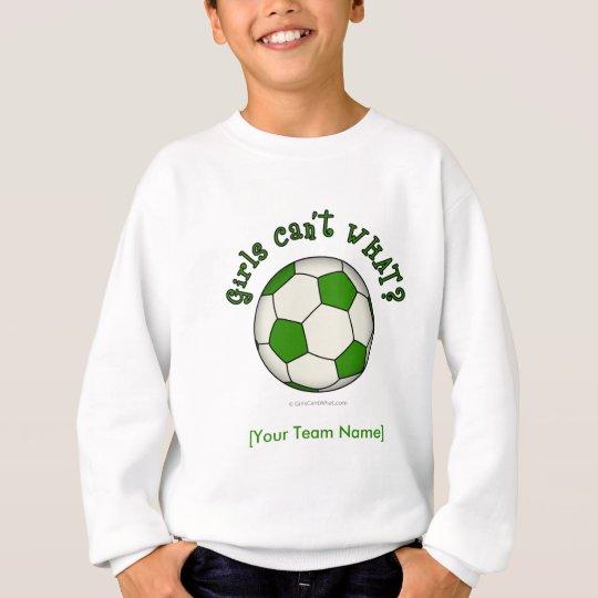 Soccer Ball in Green Sweatshirt
