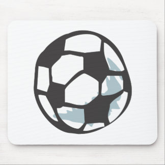 Soccer Ball in Hand drawn Style Mouse Pad