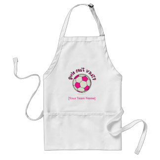 Soccer Ball in Pink Adult Apron