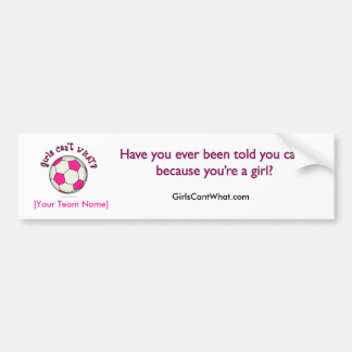 Soccer Ball in Pink Bumper Sticker