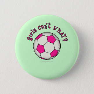 Soccer Ball in Pink Button