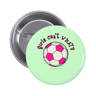 Soccer Ball in Pink Pinback Buttons