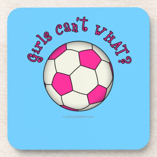 Soccer Ball in Pink Coaster