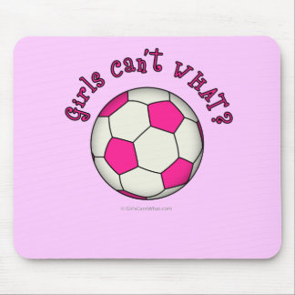 Soccer Ball in Pink Mouse Pad