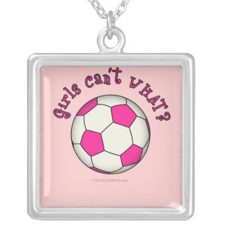 Soccer Ball in Pink Custom Necklace