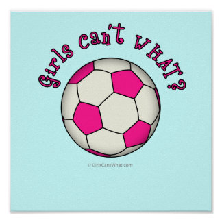 Soccer Ball in Pink Print
