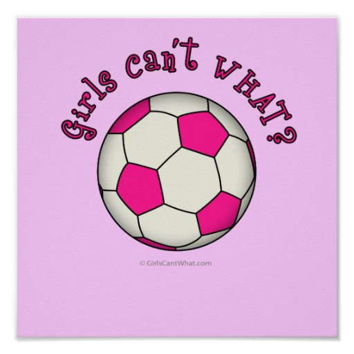 Soccer Ball in Pink Posters
