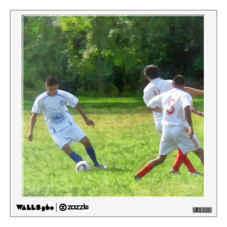 Soccer Ball in Play Wall Sticker