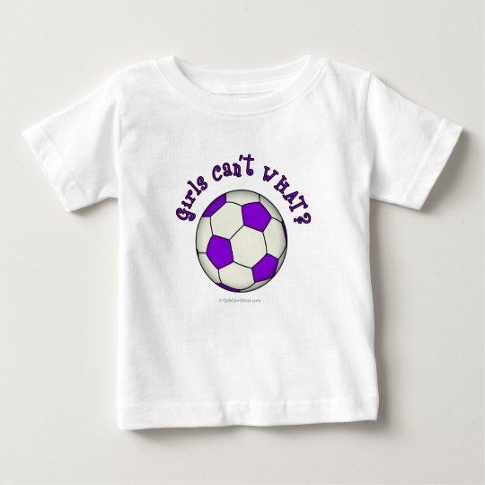 Soccer Ball in Purple Baby T-Shirt
