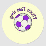Soccer Ball in Purple Classic Round Sticker