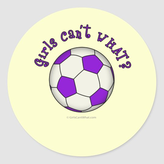 Soccer Ball in Purple Classic Round Sticker