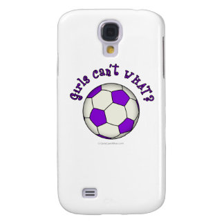 Soccer Ball in Purple Galaxy S4 Case