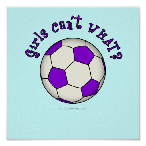Soccer Ball in Purple Poster