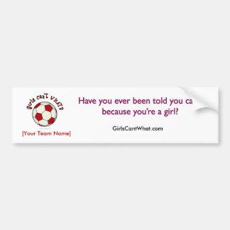 Soccer Ball in Red Bumper Sticker