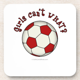 Soccer Ball in Red Coaster