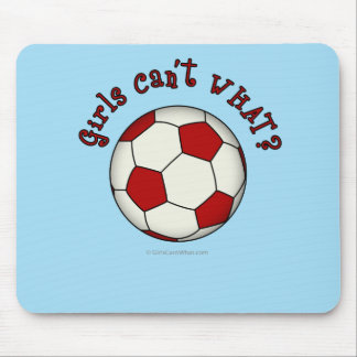 Soccer Ball in Red Mouse Pad