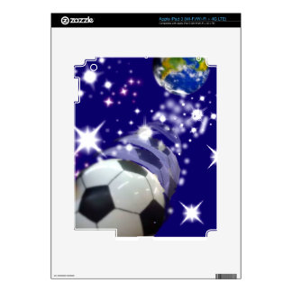 Soccer Ball in the infinity iPad 3 Decal