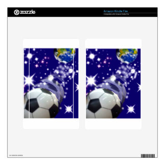 Soccer Ball in the infinity Kindle Fire Skin