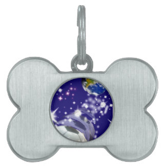 Soccer Ball in the infinity Pet ID Tag