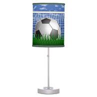 Soccer ball in the net - summer day desk lamp