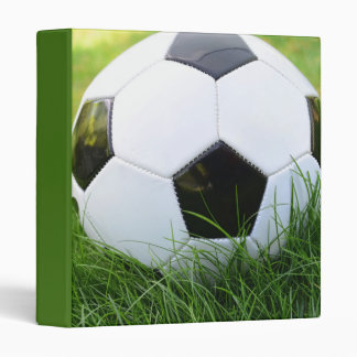 Soccer Ball in the Summer Grass 3 Ring Binder