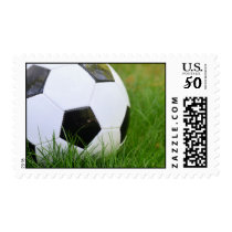 Soccer Ball in the Summer Grass Postage