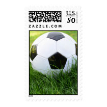 Soccer Ball in the Tall Grass Postage