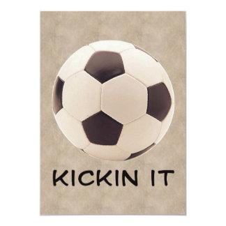 "Soccer Ball 5"" X 7"" Invitation Card"