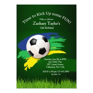 Soccer Ball Invitation