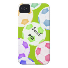 Soccer Ball Iphone 4 Case at Zazzle