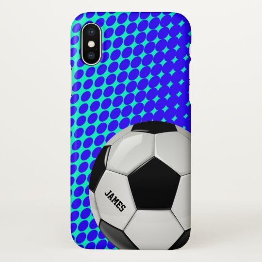 the best attitude 6a555 17a64 Soccer Ball iPhone X Case
