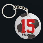 "Soccer Ball Keychain<br><div class=""desc"">Soccer ball keychain with custom name by WRKDesigns.</div>"