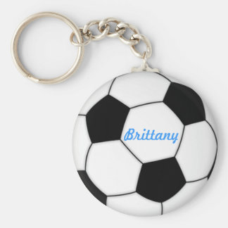 SOCCER BALL KEYCHAIN with name Brittany