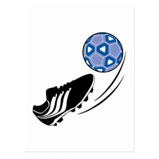 Soccer Ball Kick Post Card