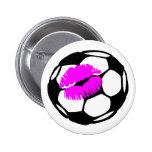 Soccer Ball (Kiss) 2 Inch Round Button