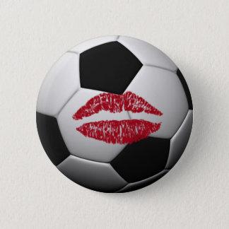 SOCCER ball kiss Button