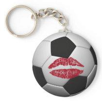 soccer ball -KISS Keychain
